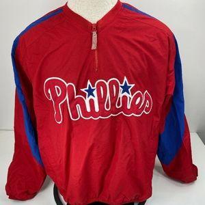 Majestic Men's Philadelphia Phillies Windbreaker
